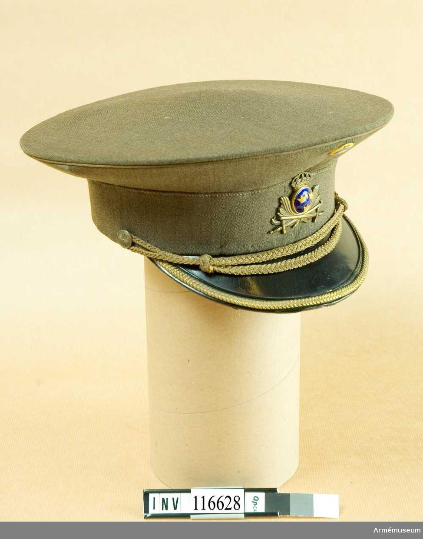 Mössa m/1939 för officer vid Fortifikationen.Grupp C I.