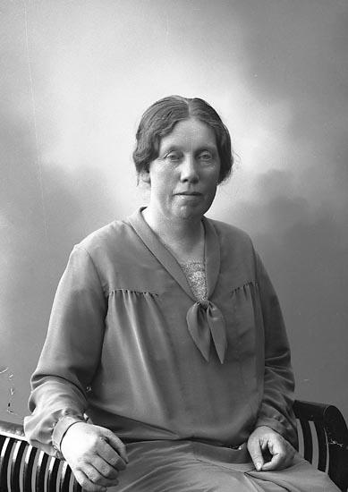 """Enligt fotografens journal nr 5 1923-1929: """"Johansson, Fr. Emmy Nyborg Här""""."""