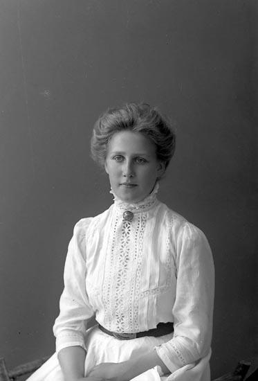 """Enligt fotografens journal nr 2 1909-1915: """"Johansson, Helga Här""""."""
