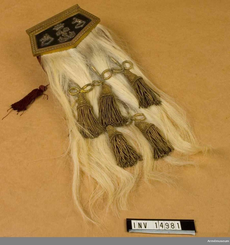 """Grupp C II. """"Sporran"""" väska till kilt, 1850-talet, Skottland."""