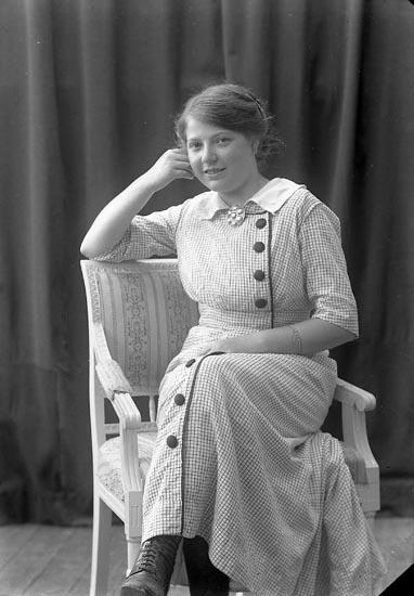 "Enligt fotografens journal nr 2 1909-1915: ""Wern, Olga, Ekudden, Ön""."