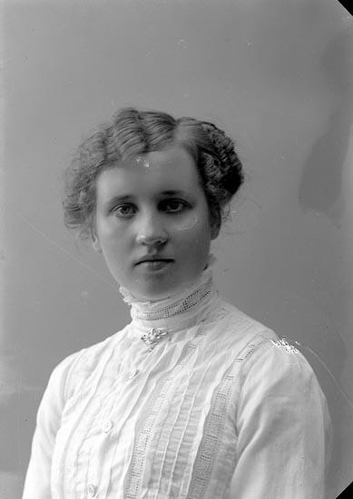"""Enligt fotografens journal nr 2 1909-1915: """"Ingemarsson, Helga Här""""."""