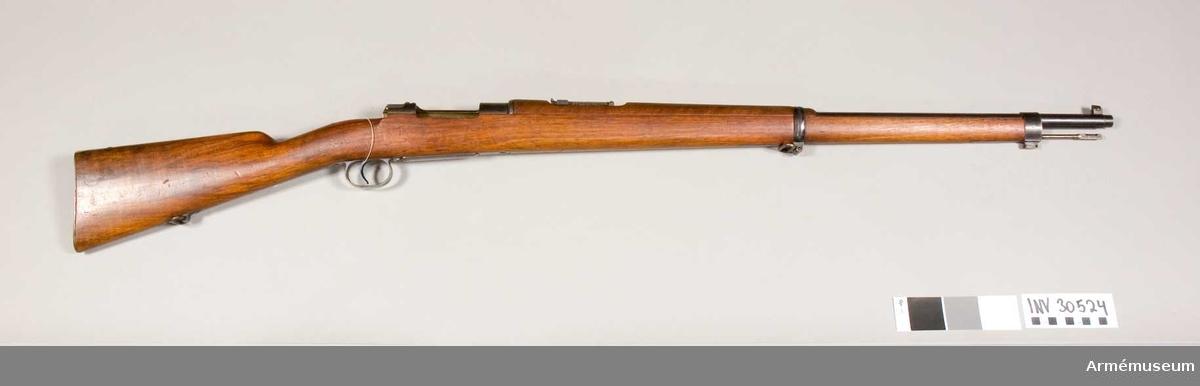 Grupp E II f. Mausergevär fm/1896, utan fläns.