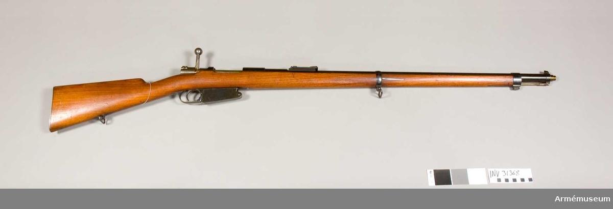 Gevär m/1889 Mauser konstruktion. Belgien. Grupp E II.