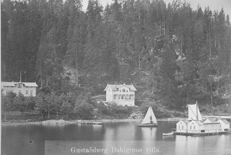 Enligt noteringar: Gustafsberg. Dahlgrens villa.
