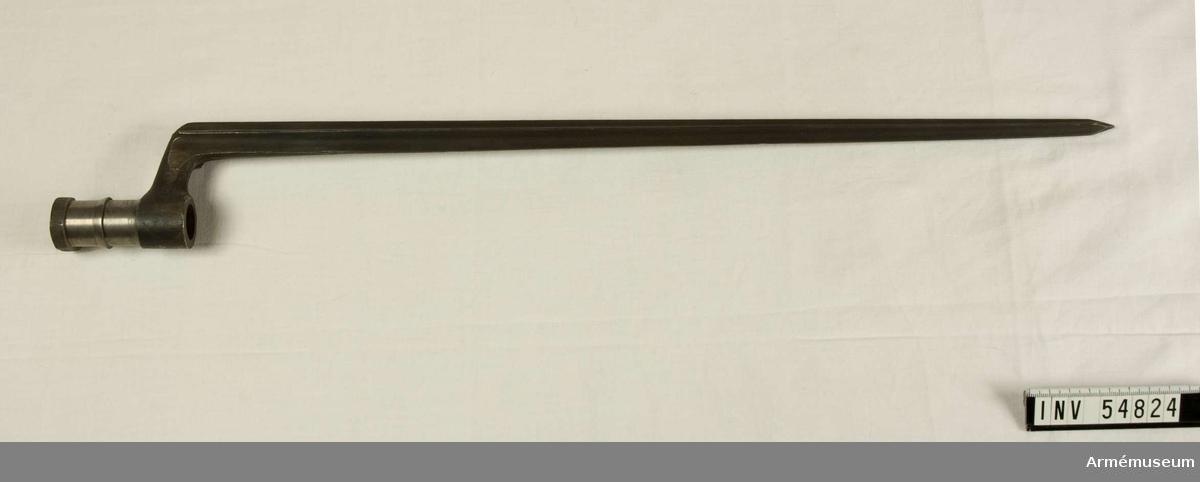 Grupp E VIII.  Nr 12 (av 20) i tillverkningsordningen. Gevärsdel till 1867 års gevär m/1867, en av c:a 400 delar.