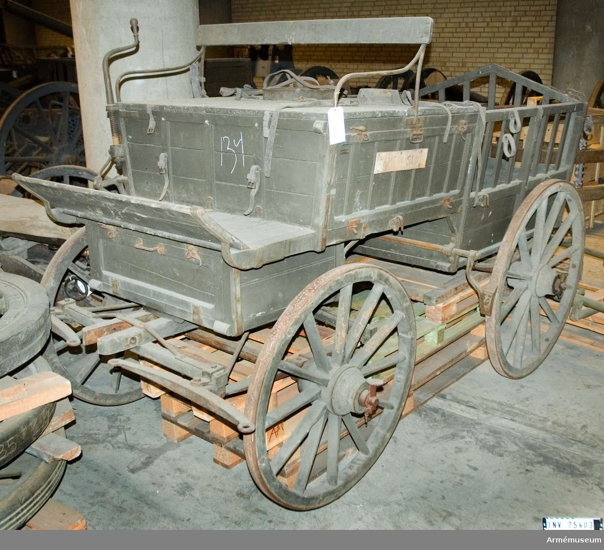 Grupp F VI. Packvagn m/1892, 2-spänd för artilleriet.