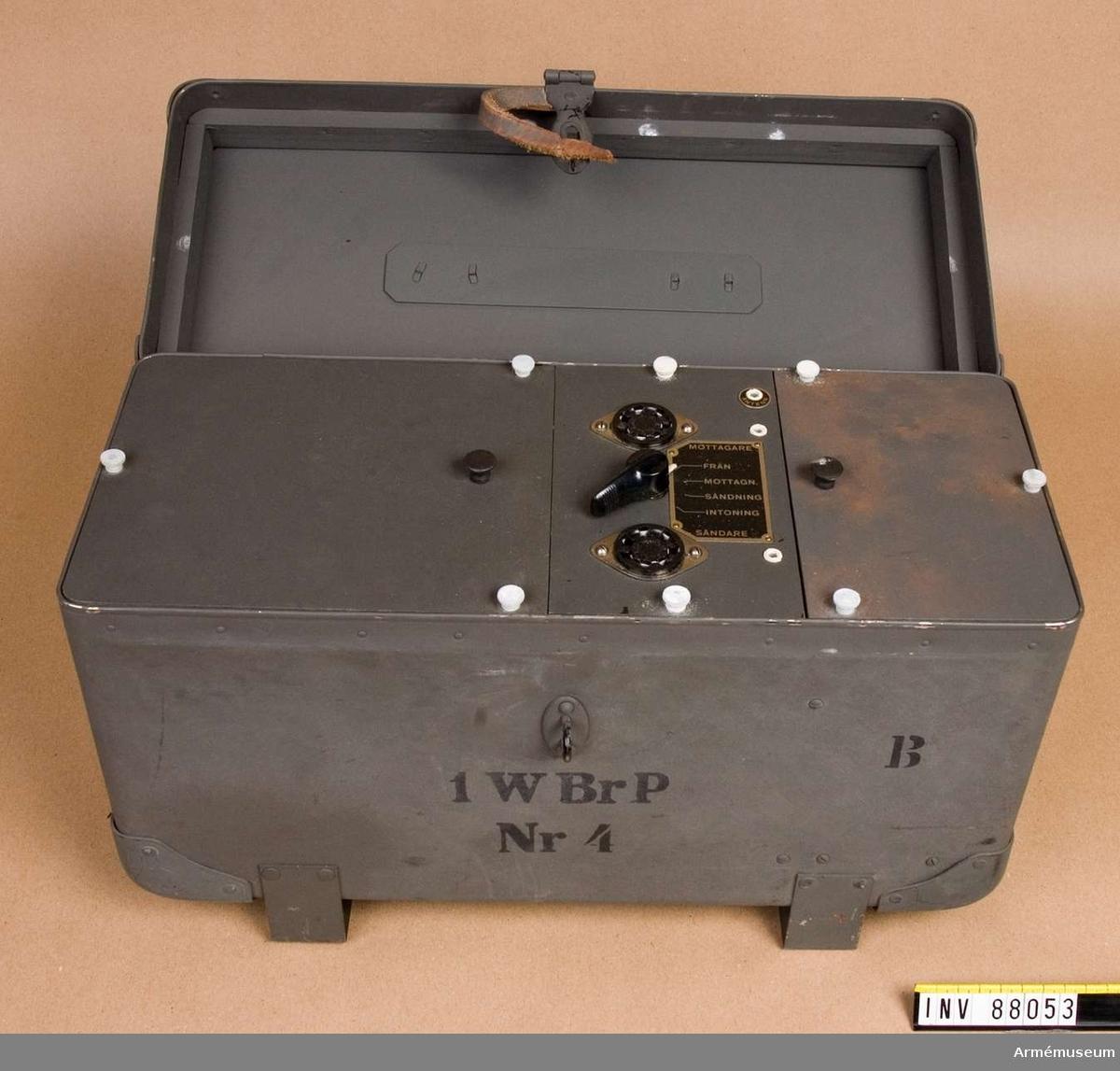 Grupp H II. Till radiostation 1 Br P m/1940.