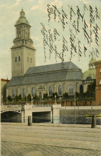 Vykort. Tyska Kyrkan, Göteborg.