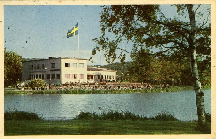 Notering på kortet: Göteborg. Slottsskogen. Vita Bandets Restaurang.