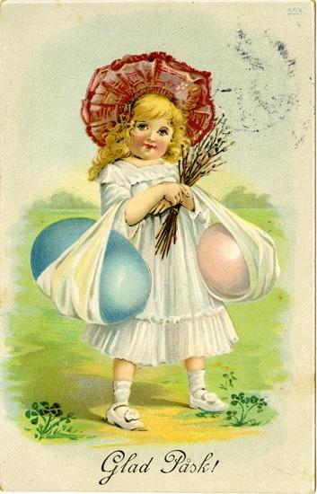 Notering på kortet: Glad Påsk!