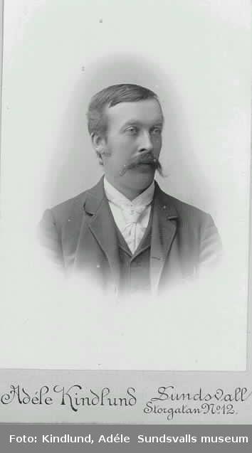 Visitkort. Porträtt av bl.a borgmästare Johan Otto Drake.