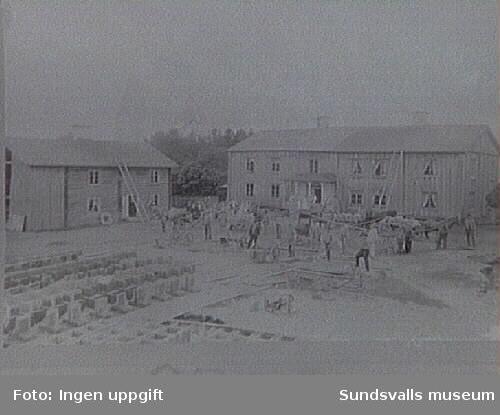 Bostadshusen före ombyggnaden