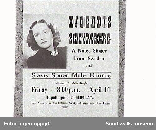 Affisch: Konsert i Rockford.