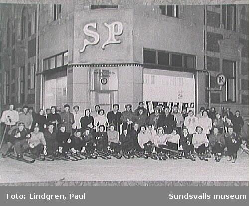 Skidutflykt arrangerad av SP (Sundsvalls Posten) samt skidklubben Vidar.