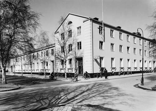 Umeå, postkontor.  April 1947.