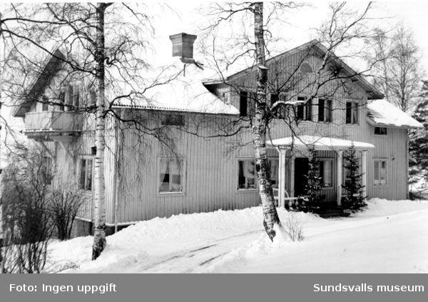 Tjänstebostad hörande till Nensjö cellulosafabrik.