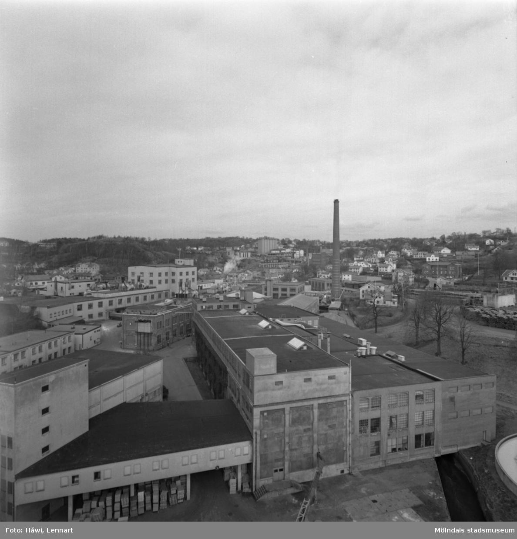 Papyrus fabriksområde i Mölndal, 21/3 1973.