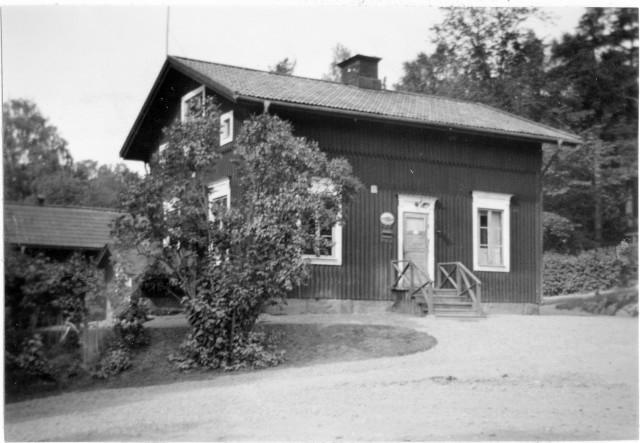 Söderhamns postområde. Bergvik 1 posstation, exteriör.