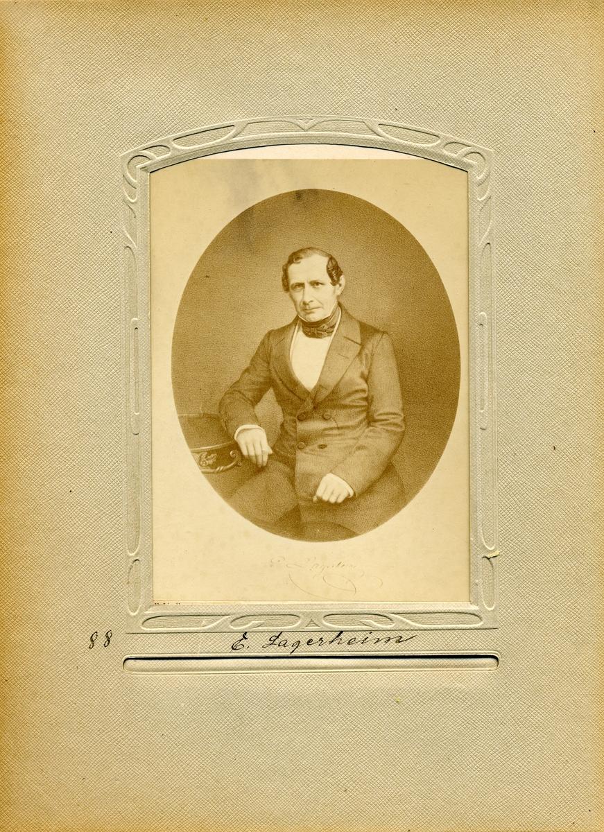 Porträtt av Överpostdirektören i Postverket 1832-1836, Elias Lagerheim.