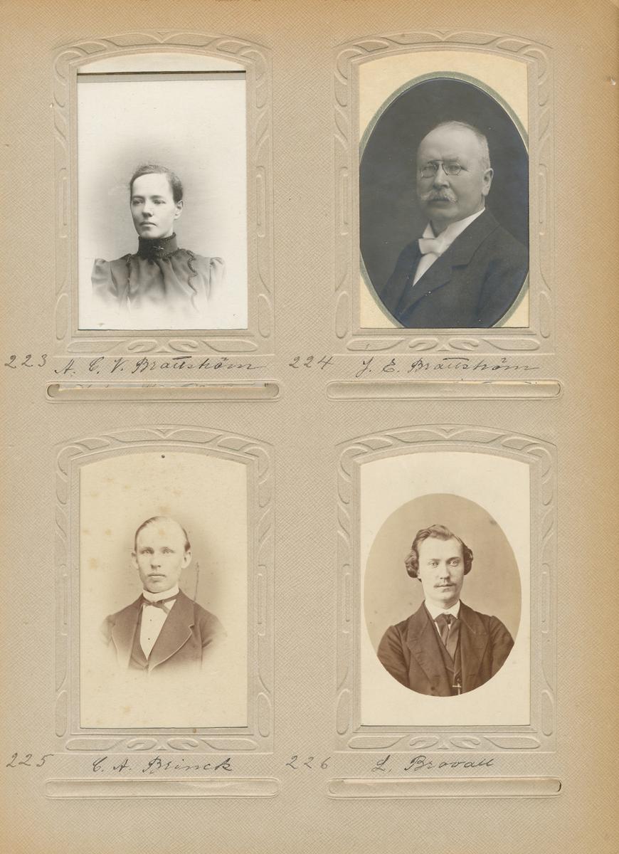 Porträtt av Johan Edvard Brattström, postmästare i Arboga 1905-1925.