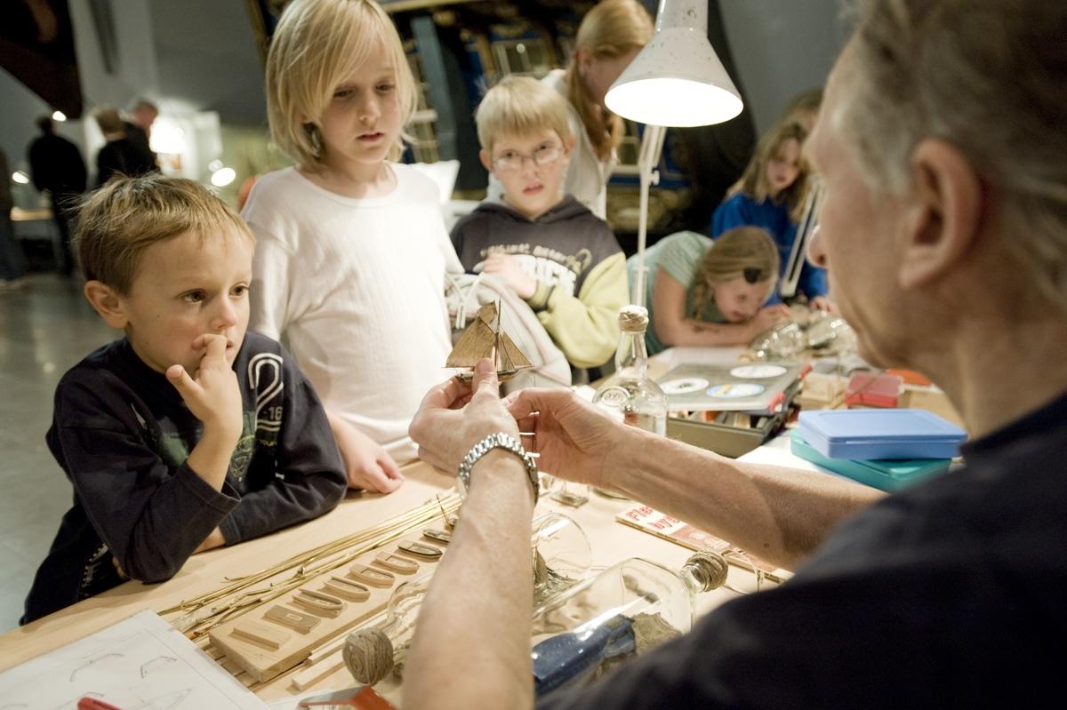 Modellhelg på Sjöhistoriska museet 18 okt 2008 Viggo Platt, Cosmos Börjesson, Robin Nordling