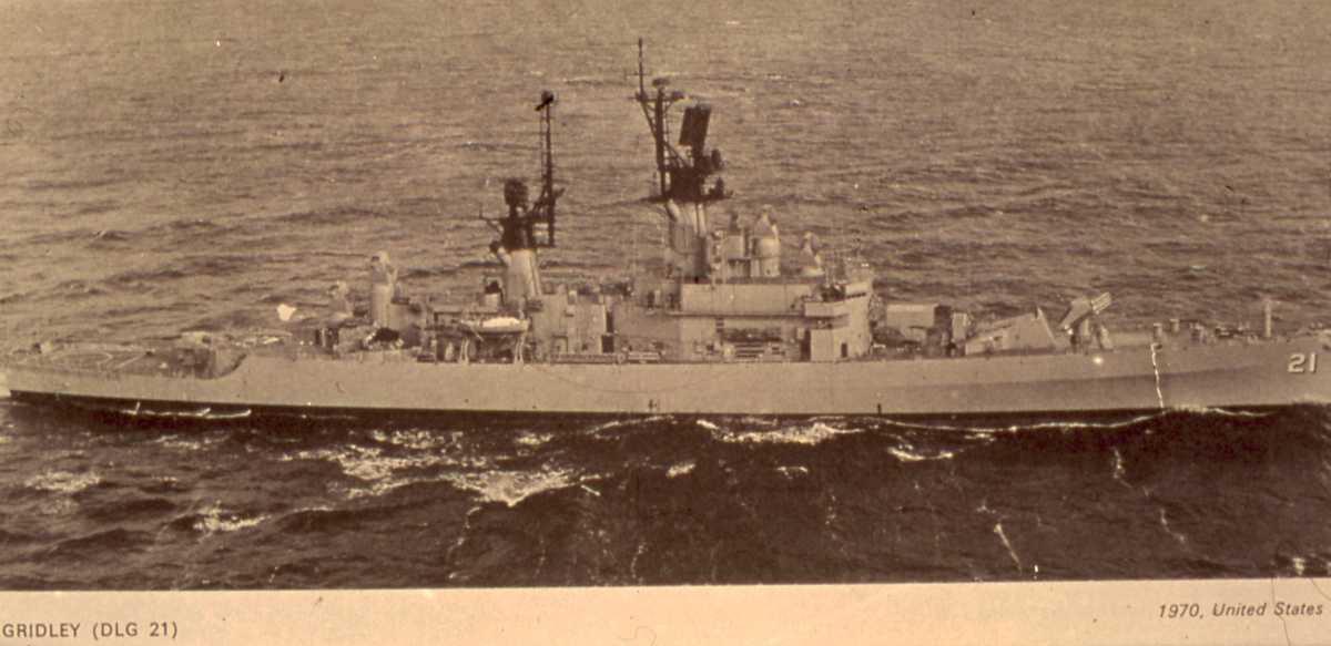 Amerikansk fartøy av Leahy - klassen med navnet Gridley og nr. 21.