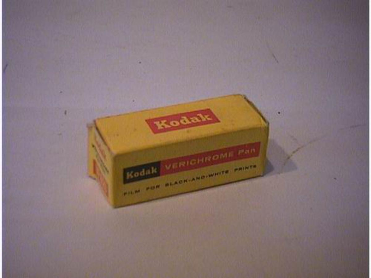 Rektangulær gul pappøskje