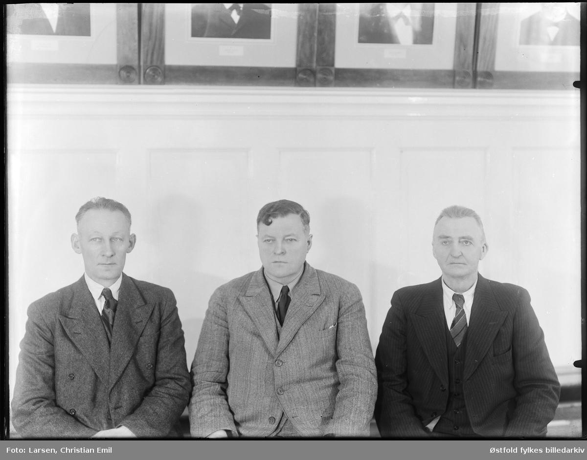 Rakkestad sparebank 1943, ansatte eller styre? Ukjente navn.