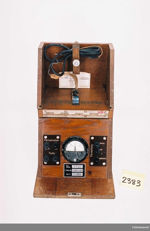 For tilkobling av morsenøkkel-telefon-fjernskriver til radiosender