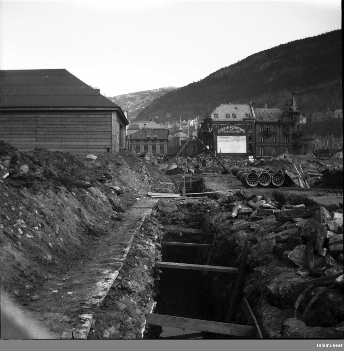 Nedlegging av kabelblokker i Bergen sentrum