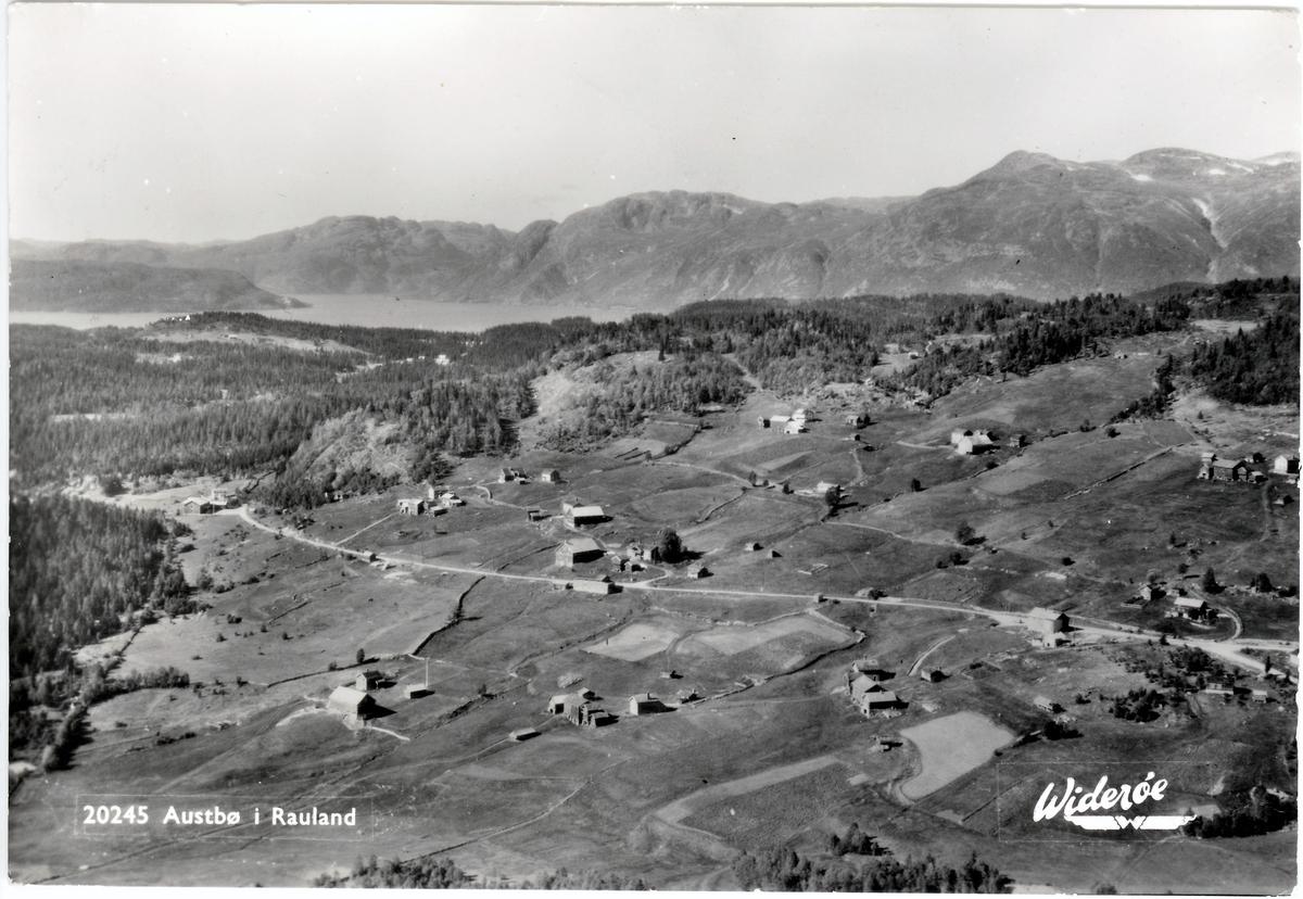 Austbø, Rauland. Stemplet 1957.