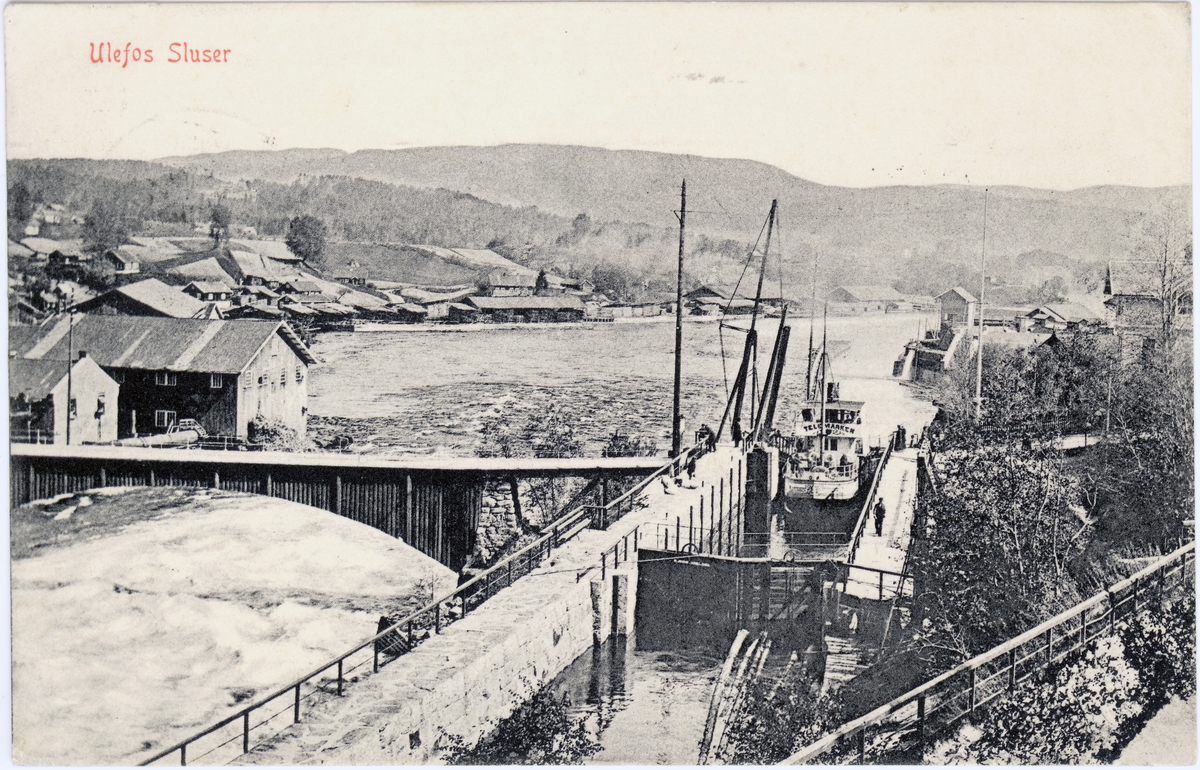 Ulefoss sluser. Brukt 1910.