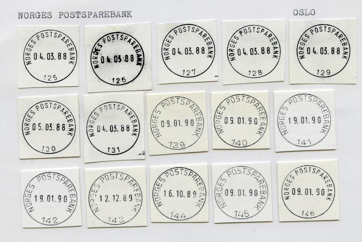 Stempelkatalog  Oslo,Postbanken, Oslo