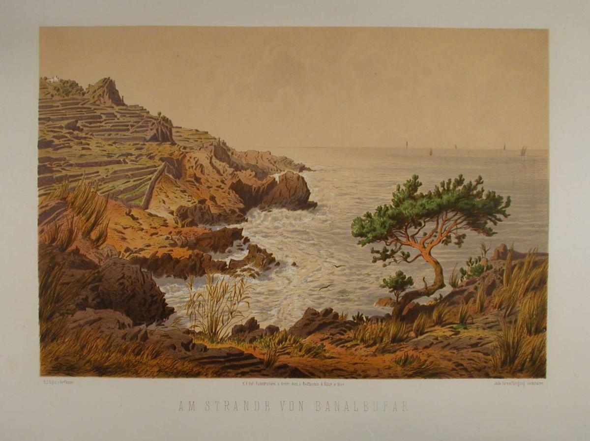 Forrevne klipper ved sjøen