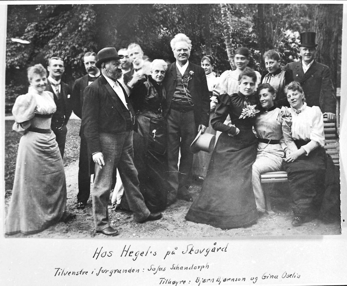Danmark, Skovgaard, Hegel, Bjørnson, sommerselskap,