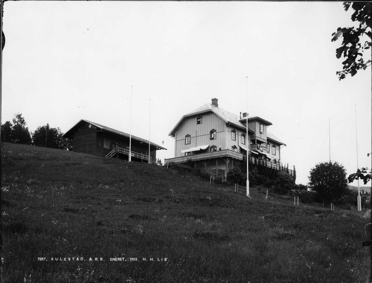 Aulestad, 1903, veranda, Bjørnstjerne Bjørnson, vognskjul, kort,