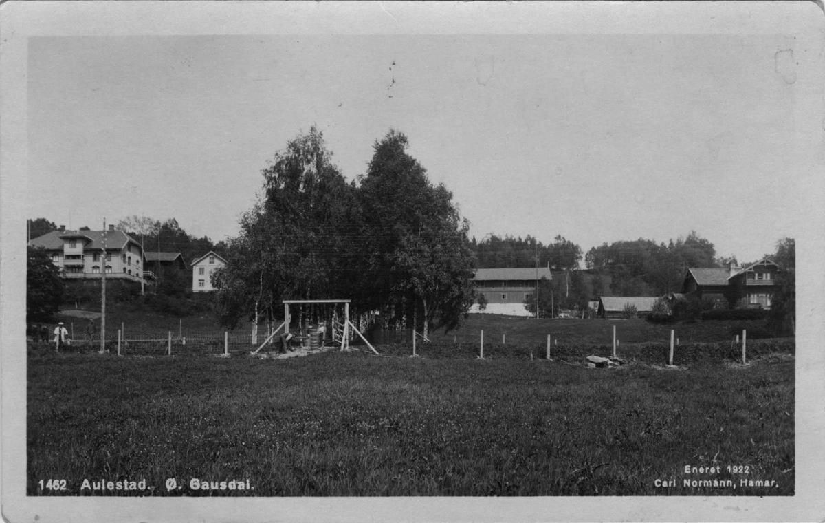 Aulestad, postkort, 1922,