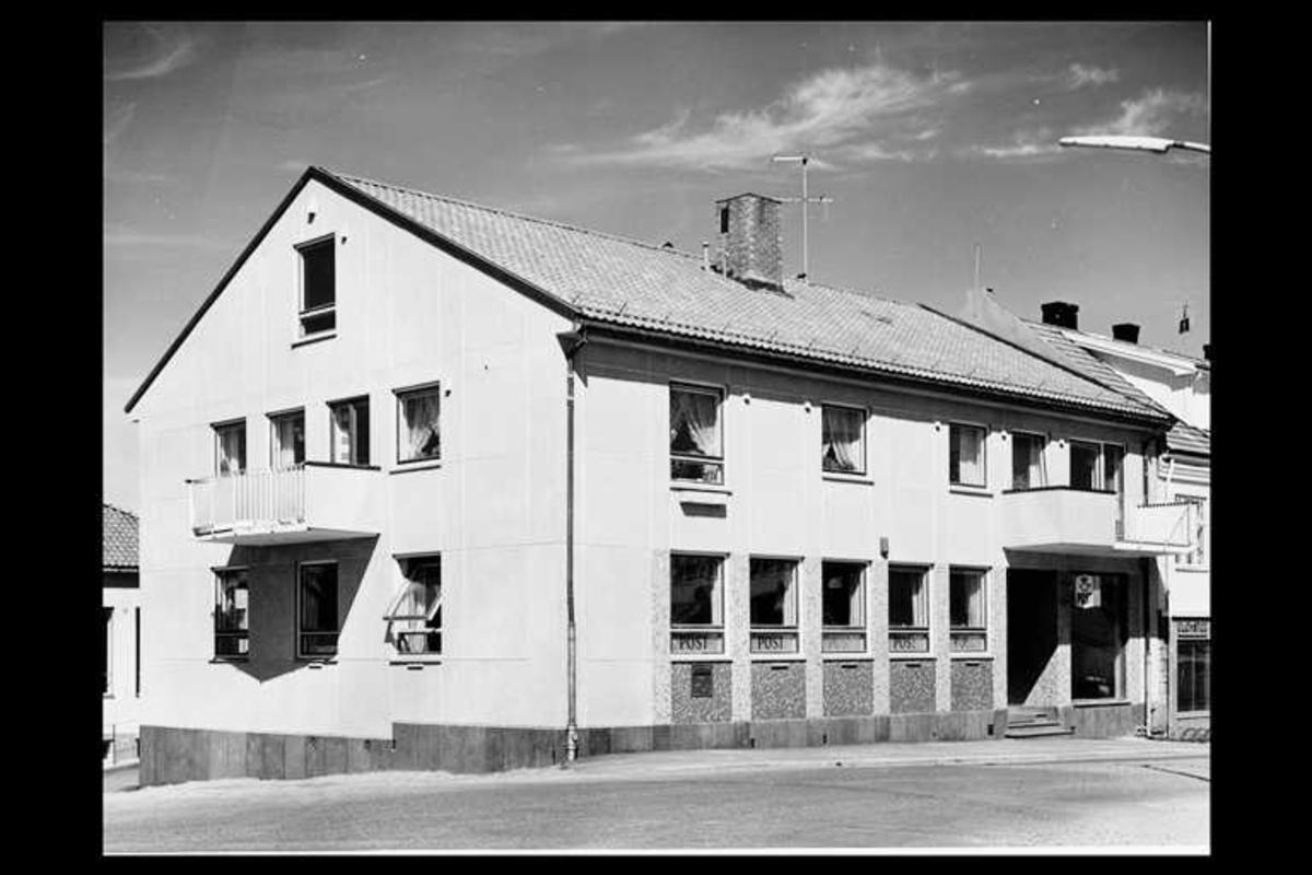 eksteriør, postkontor, 1850 Mysen, innstikkpostkasse
