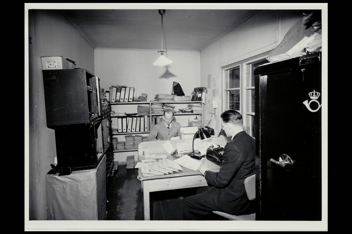 interiør, postkontor, 8600 Hammerfest, pengeskap, regnemaskin, kontor