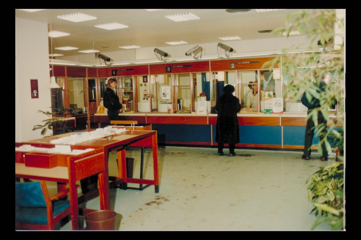 interiør, postkontor, 0134 Vaterland, publikumshall, kunder