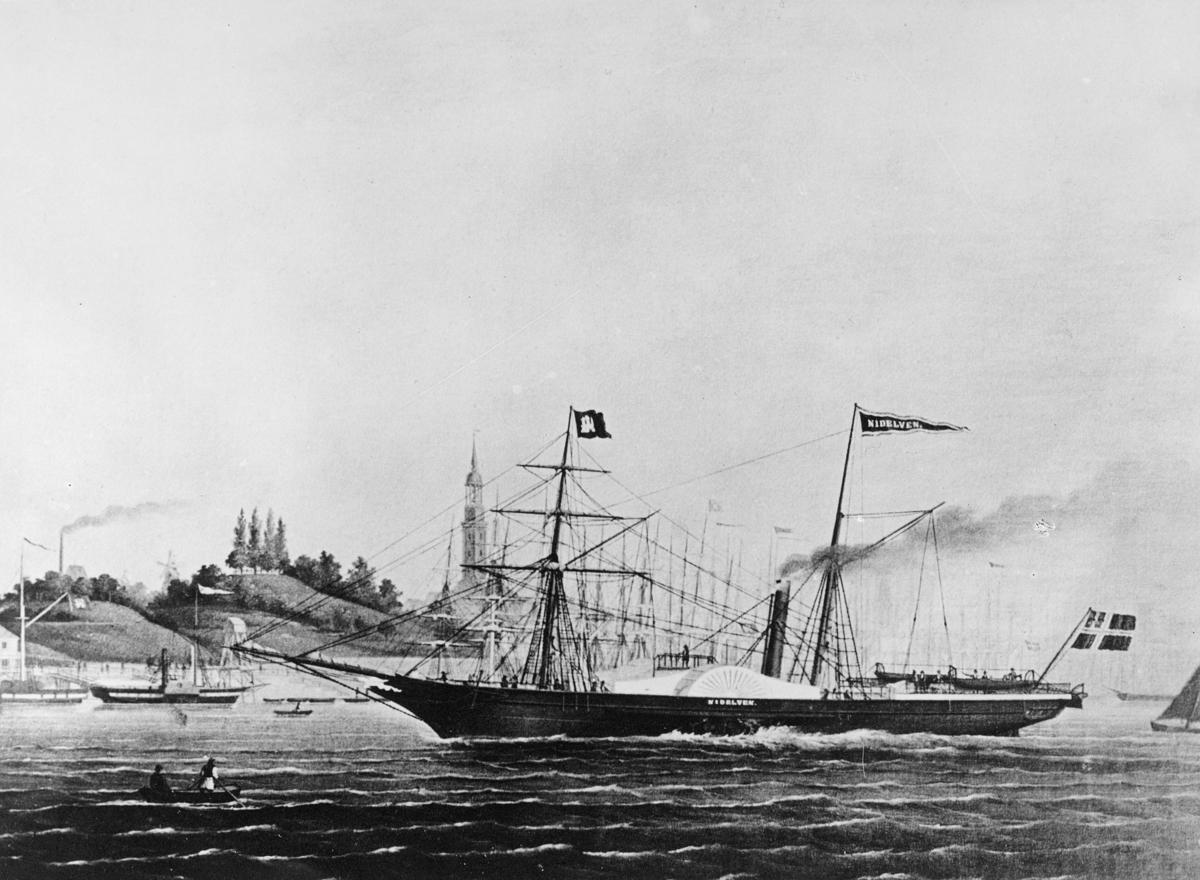 transport båt, eksteriør, D/S Nidelven