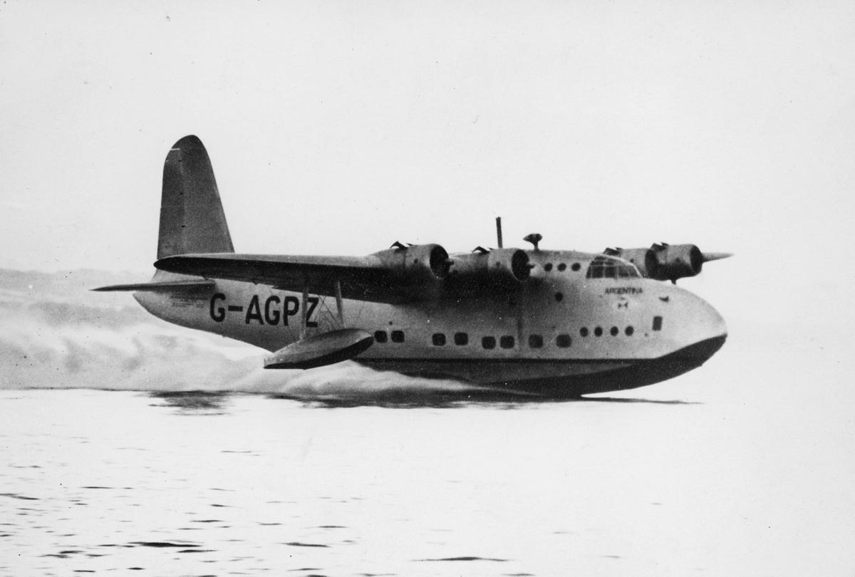 transport, fly, eksteriør, Sandringham Mark VI, i lufta
