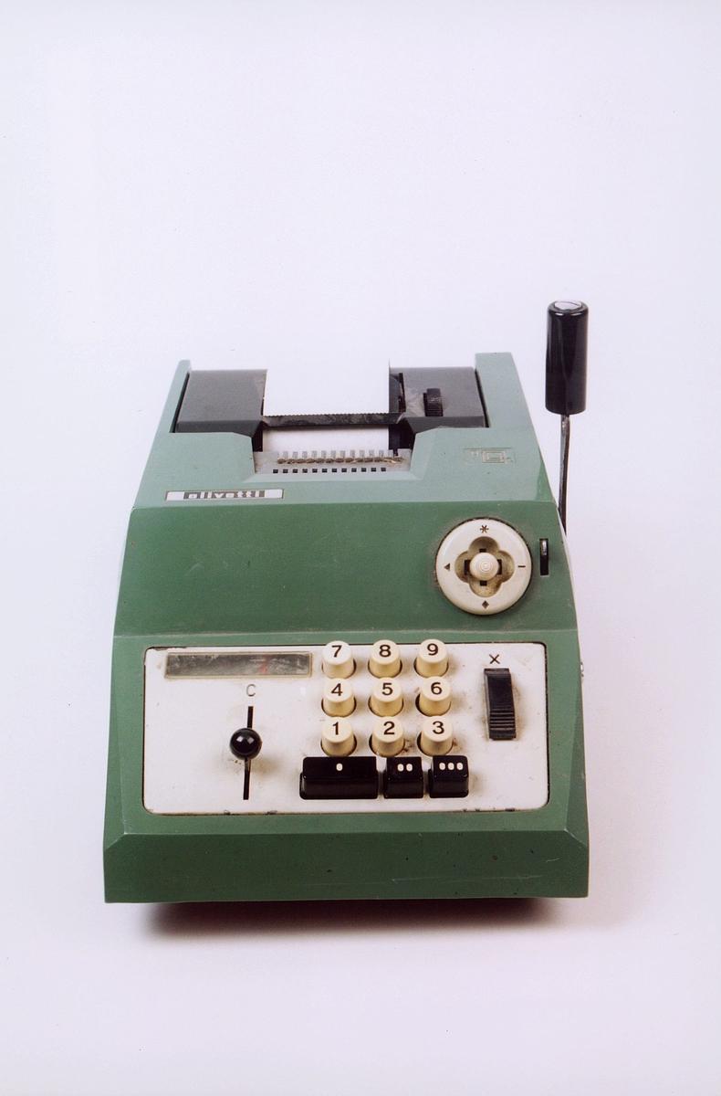 postmuseet, gjenstander, maskin, regnemaskin, Olivetti