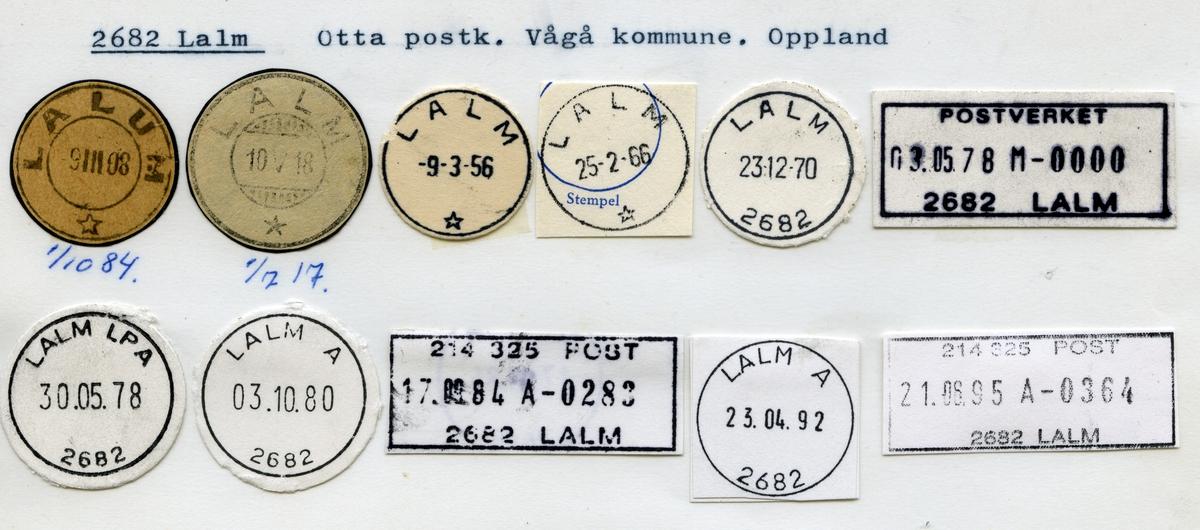 Stempelkatalog 2682 Lalm (Lalum), Lillehammer, Vågå, Oppland