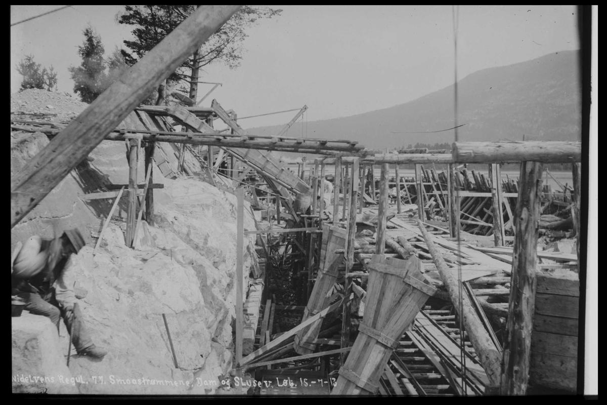 Arendal Fossekompani i begynnelsen av 1900-tallet CD merket 0446, Bilde: 32 Sted: Småstraumene Beskrivelse: Regulering