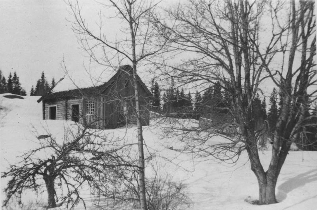 Søndagsmotiv ved Vangen,  vinter 1923/24.