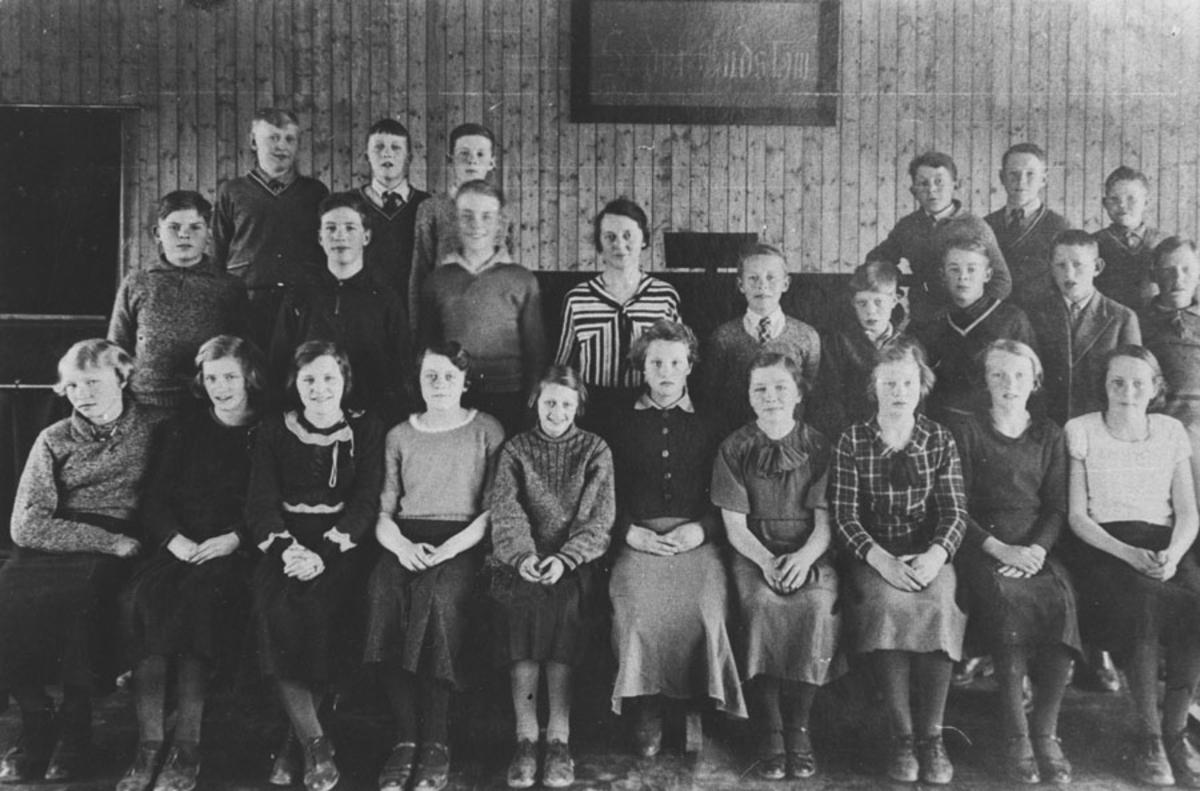 7. klasse 1934 (Salen).