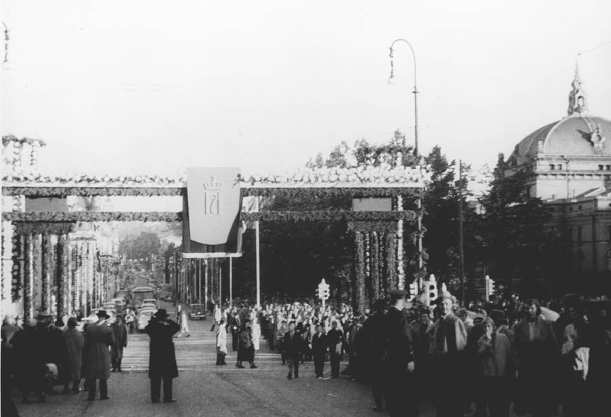 Kong Haakon den 7. Hjemkomsten i 1945 i Oslo