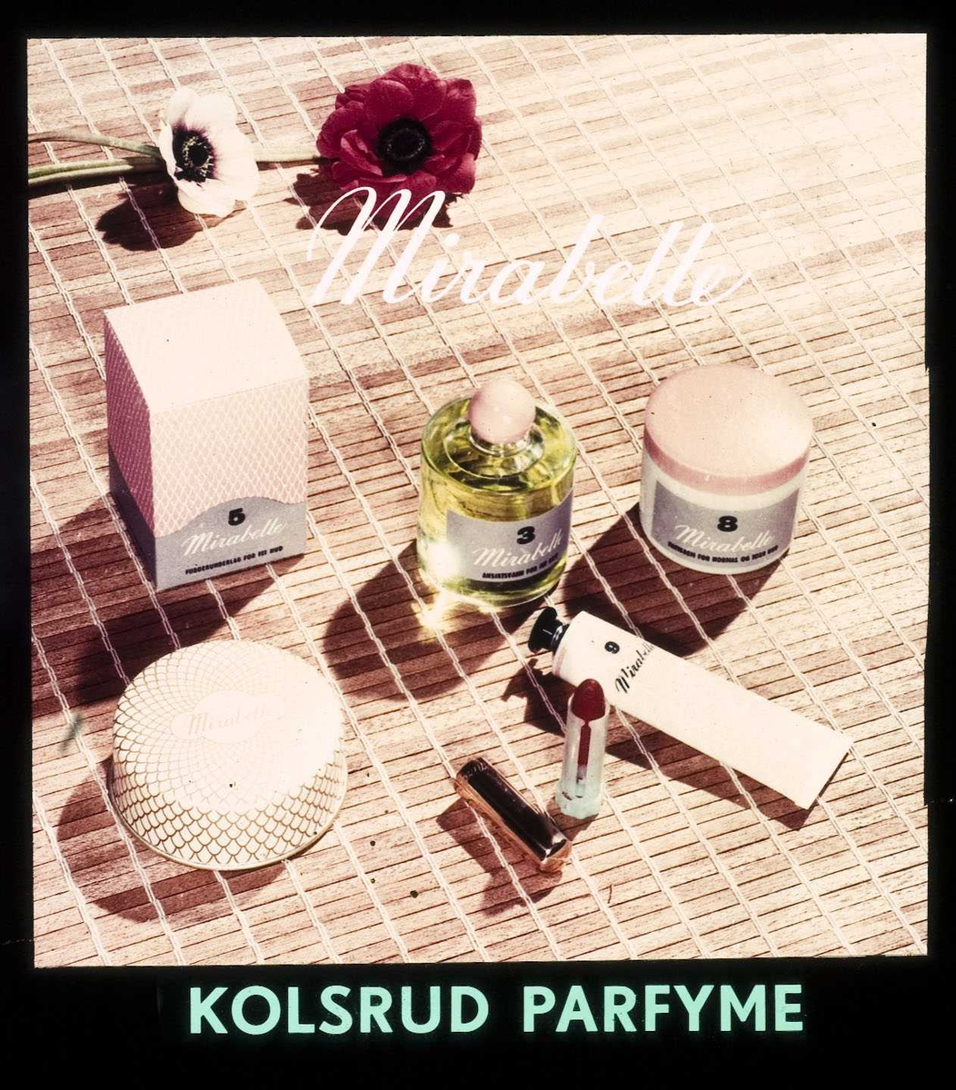 Kinoreklame fra Ski for Mirabelle kosmetikk. Kolsrud parfyme